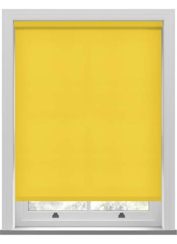Electric Roller Blinds Splash Solar Yellow