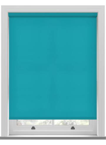 Electric Roller Blinds Splash Turquoise Blue