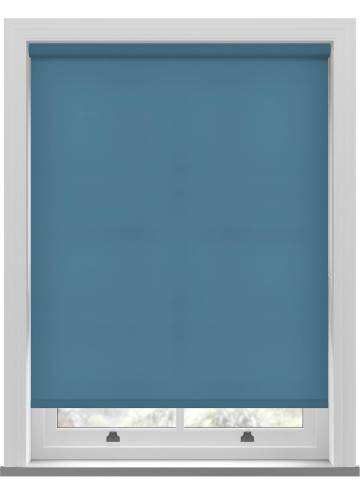 Electric Roller Blinds Stockholm Smoke Blue