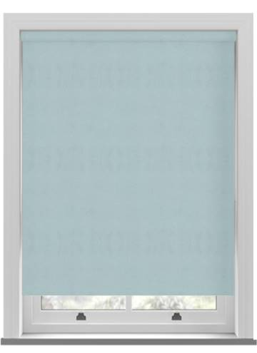 Electric Roller Blinds Suede Blackout Duck Egg