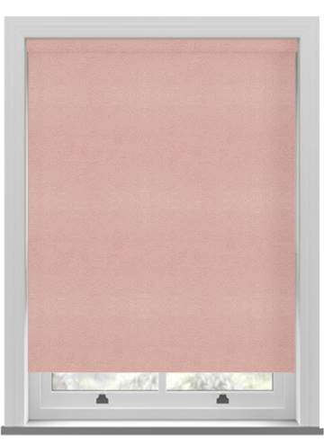 Electric Roller Blinds Suede Blackout Dusky pink