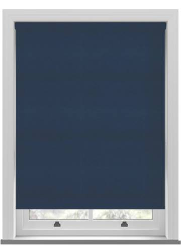 Electric Roller Blinds Suede Blackout Ink Blue