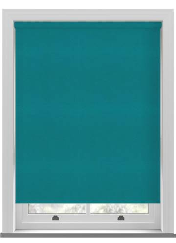 Electric Roller Blinds Suede Blackout Teal Blue