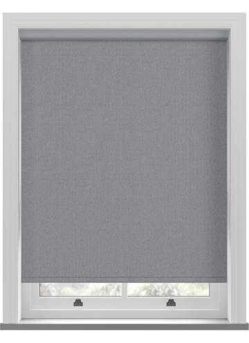 Electric Roller Blinds Umbra Blackout Denim Blue