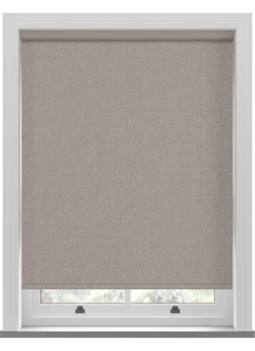 Electric Roller Blinds Umbra Blackout Taupe Brown