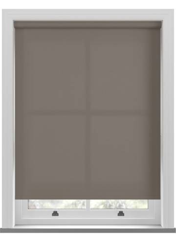 Electric Roller Blinds Unicolour FR Chocolate Brown