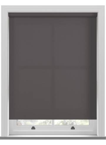 Electric Roller Blinds Unicolour FR Dark Grey