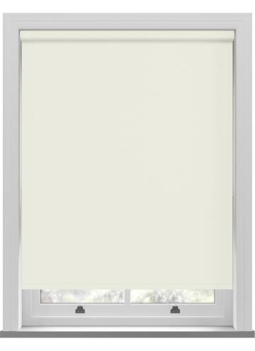 Electric Roller Blinds Unilux PVC Blackout Butter Cream