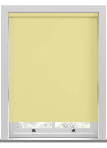 Electric Roller Blinds Unilux PVC Blackout Buttercup Yellow