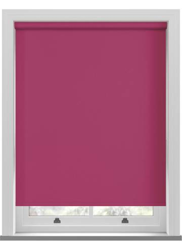 Electric Roller Blinds Unilux PVC Blackout Flamingo Pink