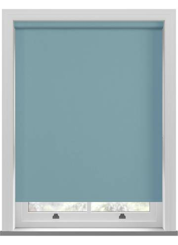 Electric Roller Blinds Unilux PVC Blackout Topaz Blue
