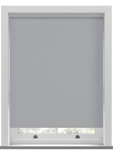 Electric Roller Blinds Unishade Blackout FR Ash Grey