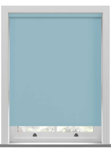 Electric Roller Blinds Unishade Blackout FR Batik Blue