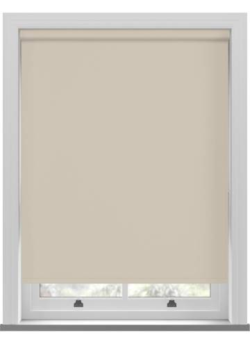 Electric Roller Blinds Unishade Blackout FR Beige
