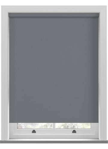 Electric Roller Blinds Unishade Blackout FR Charcoal Grey