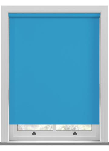 Electric Roller Blinds Unishade Blackout FR Cyan Blue