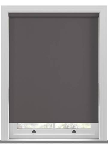 Electric Roller Blinds Unishade Blackout FR Dark Grey