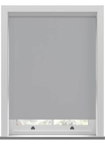Electric Roller Blinds Unishade Blackout FR Dove Grey