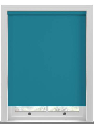 Electric Roller Blinds Unishade Blackout FR Escape Teal