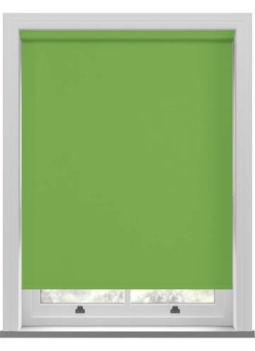 Electric Roller Blinds Unishade Blackout FR Kiwi Green