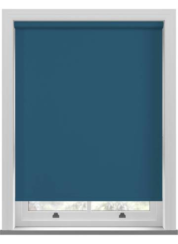 Electric Roller Blinds Unishade Blackout FR Lapis Blue
