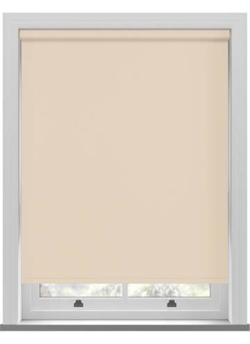 Electric Roller Blinds Unishade Blackout FR Light Cream