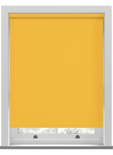 Electric Roller Blinds Unishade Blackout FR Luna Yellow
