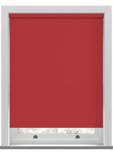 Electric Roller Blinds Unishade Blackout FR Morello Red