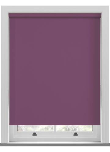 Electric Roller Blinds Unishade Blackout FR Mulberry Purple