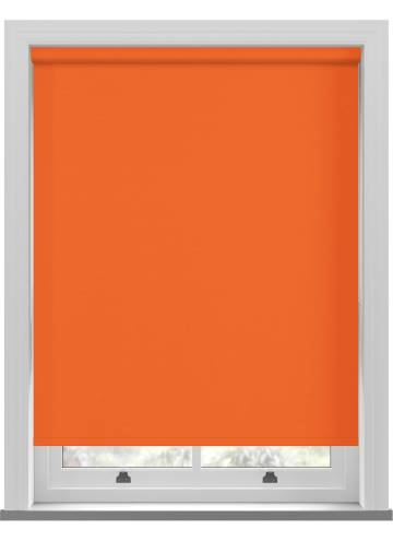 Electric Roller Blinds Unishade Blackout FR Rayon Orange