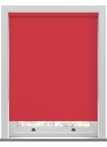 Electric Roller Blinds Unishade Blackout FR Red