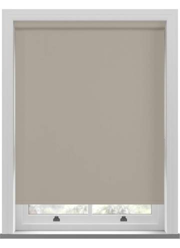 Electric Roller Blinds Unishade Blackout FR Taupe Brown
