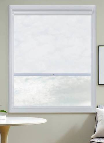 Perfect Fit Roller Blinds Mood FR Voile Cotton White