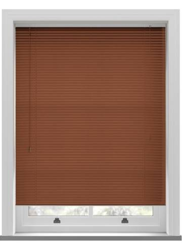 Venetian Blinds Wood Grain Effect 25mm Cherry
