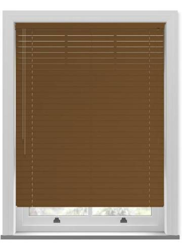 Venetian Blinds Wood Grain Effect 50mm Pecan TR9944