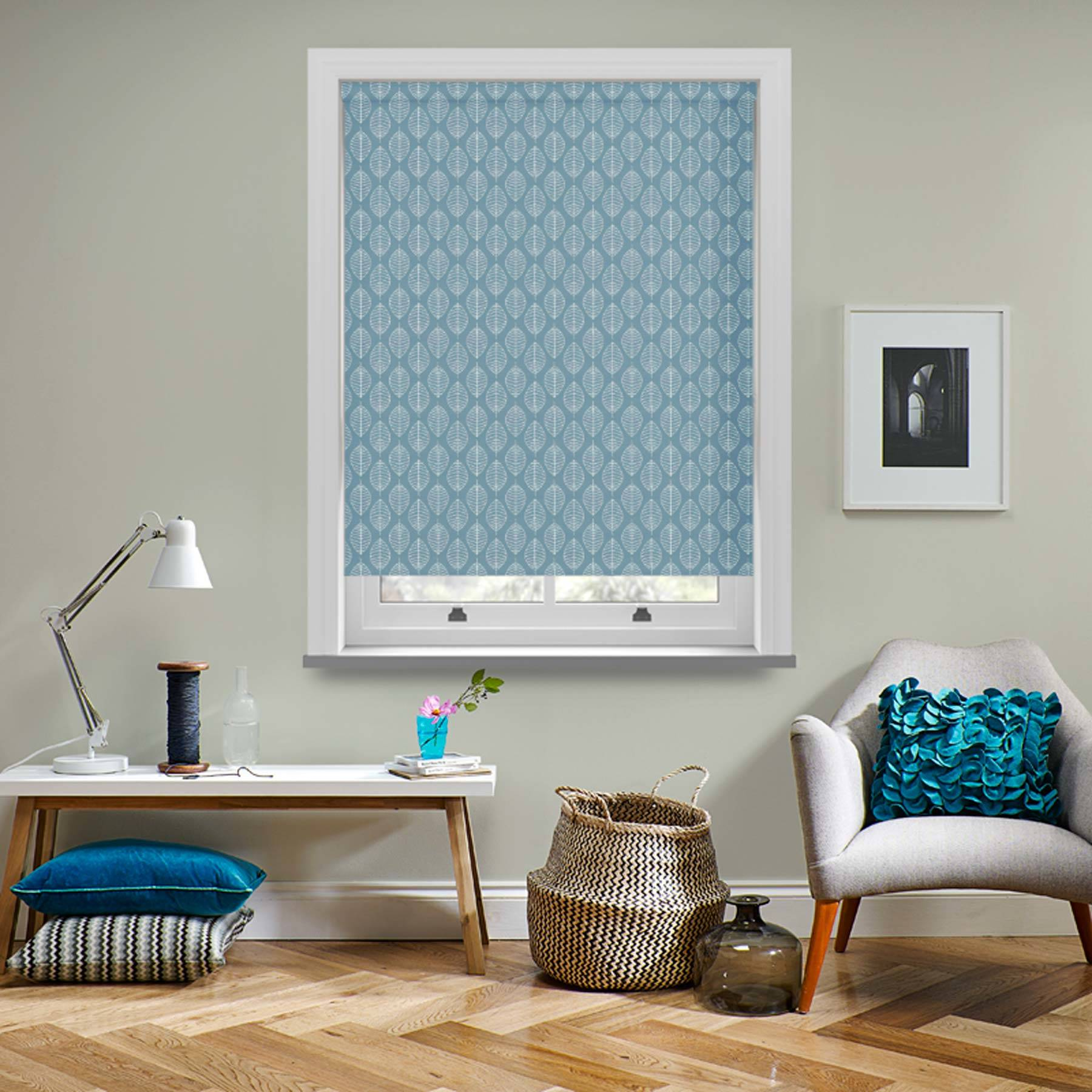 Roller Blinds Boheme PVC Blackout Azure Blue