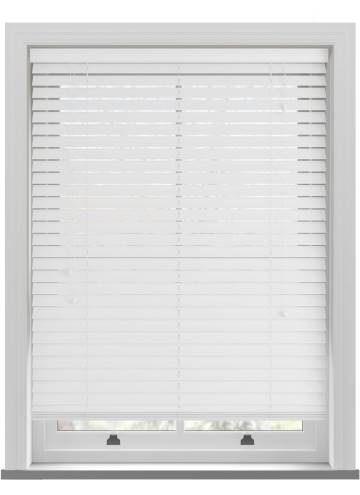 Wooden Blinds Mississippi Glacier White
