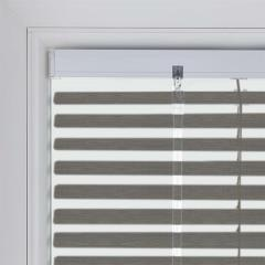 Neat Fit Blinds Metallic 25mm Brushstroke Silver T0950