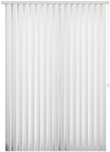 Rigid PVC Vertical Blinds Perlato Blackout White Rigid PVC