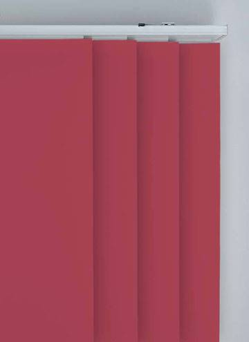 Panel Blinds Splash Chilli Red