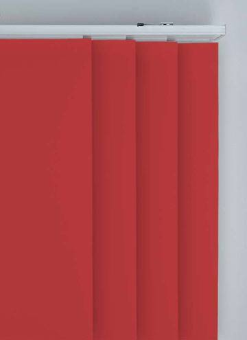 Panel Blinds Splash Ruby Red