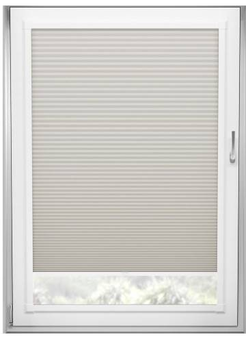 Perfect Fit Pleated Blinds Cellular Blackout Almond