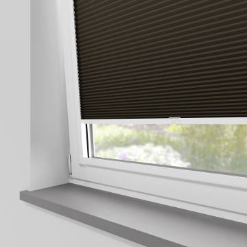 Perfect Fit Pleated Blinds Cellular Blackout Chocolate
