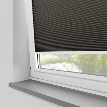 Perfect Fit Pleated Blinds Cellular Blackout Dark Grey
