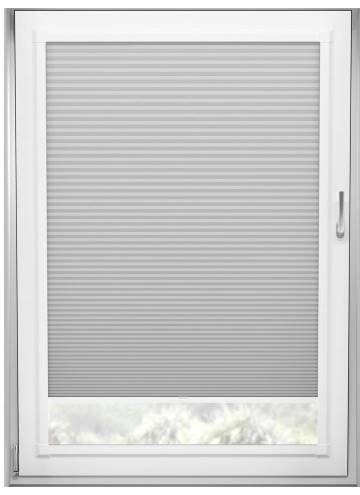 Perfect Fit Pleated Blinds Cellular Blackout Dove Grey