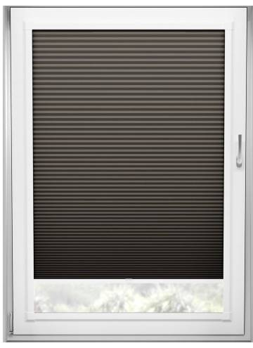 Perfect Fit Pleated Blinds Cellular Blackout Graphite