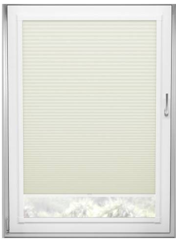 Perfect Fit Pleated Blinds Cellular Blackout Ivory