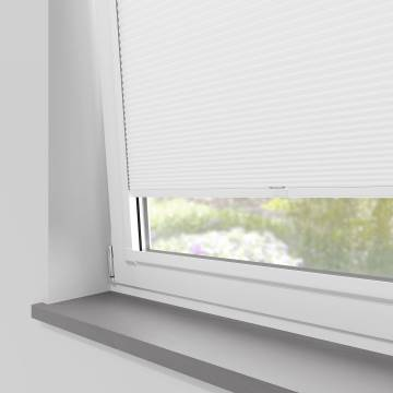 Perfect Fit Pleated Blinds Cellular Blackout Snowdrop White