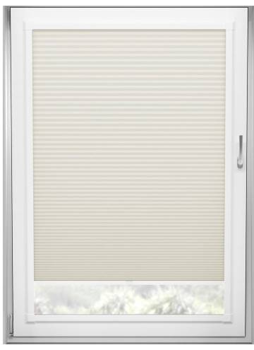 Perfect Fit Pleated Blinds Cellular Blackout Warm White