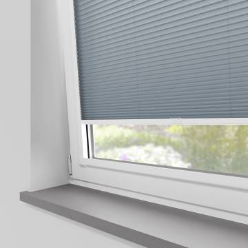 Perfect Fit Pleated Blinds Cellular Denim Blue